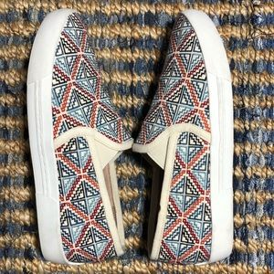 NEW Joie Huxley Multicolored Embroidered Sneakers